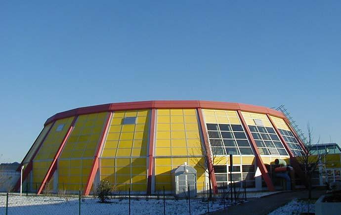 Beton Gemeinde Leonding Sporthalle
