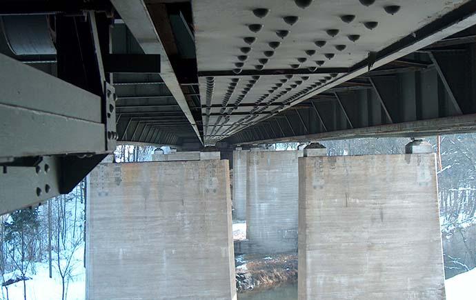 Brücken Referenz Prientalbrücke Untersicht