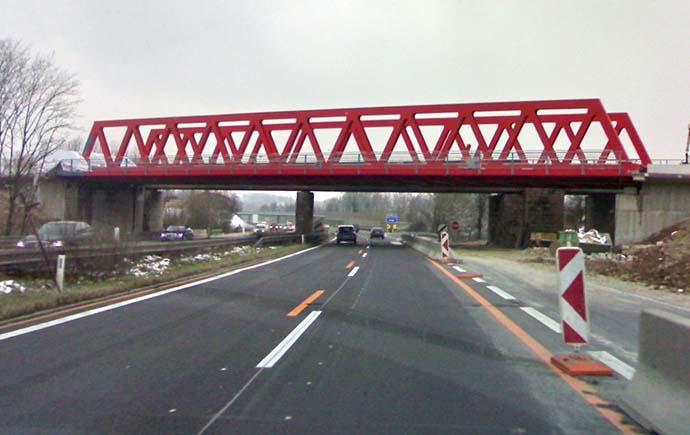 Brücken Referenz A1 Steyrermühl Westautobahn Seitenansicht