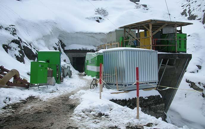 Druckrohrleitung Referenz KW-Lünersee Baustelleneinrichtung