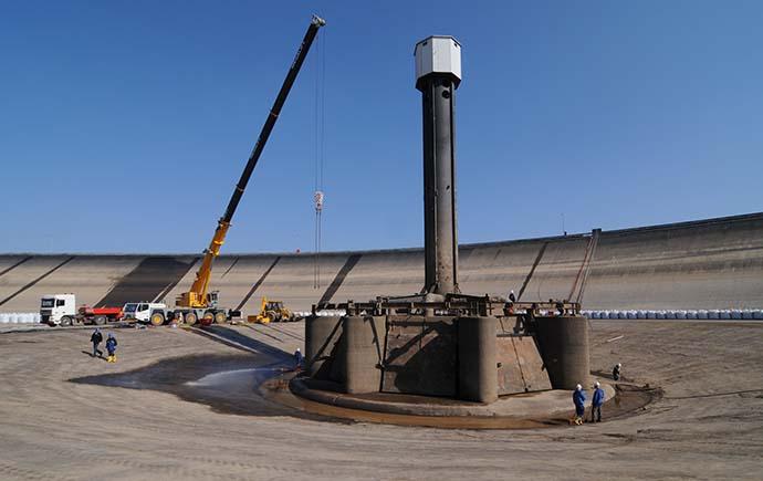 Druckrohrleitungen Referenzen Pumpspeicherwerk Vianden Einlauf
