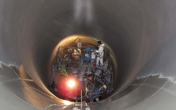 Druckrohrleitungen Referenz Pumpspeicherkraft Vianden Innenarbeiten
