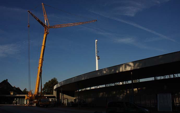 Flutlichtmasten Stadion Linz