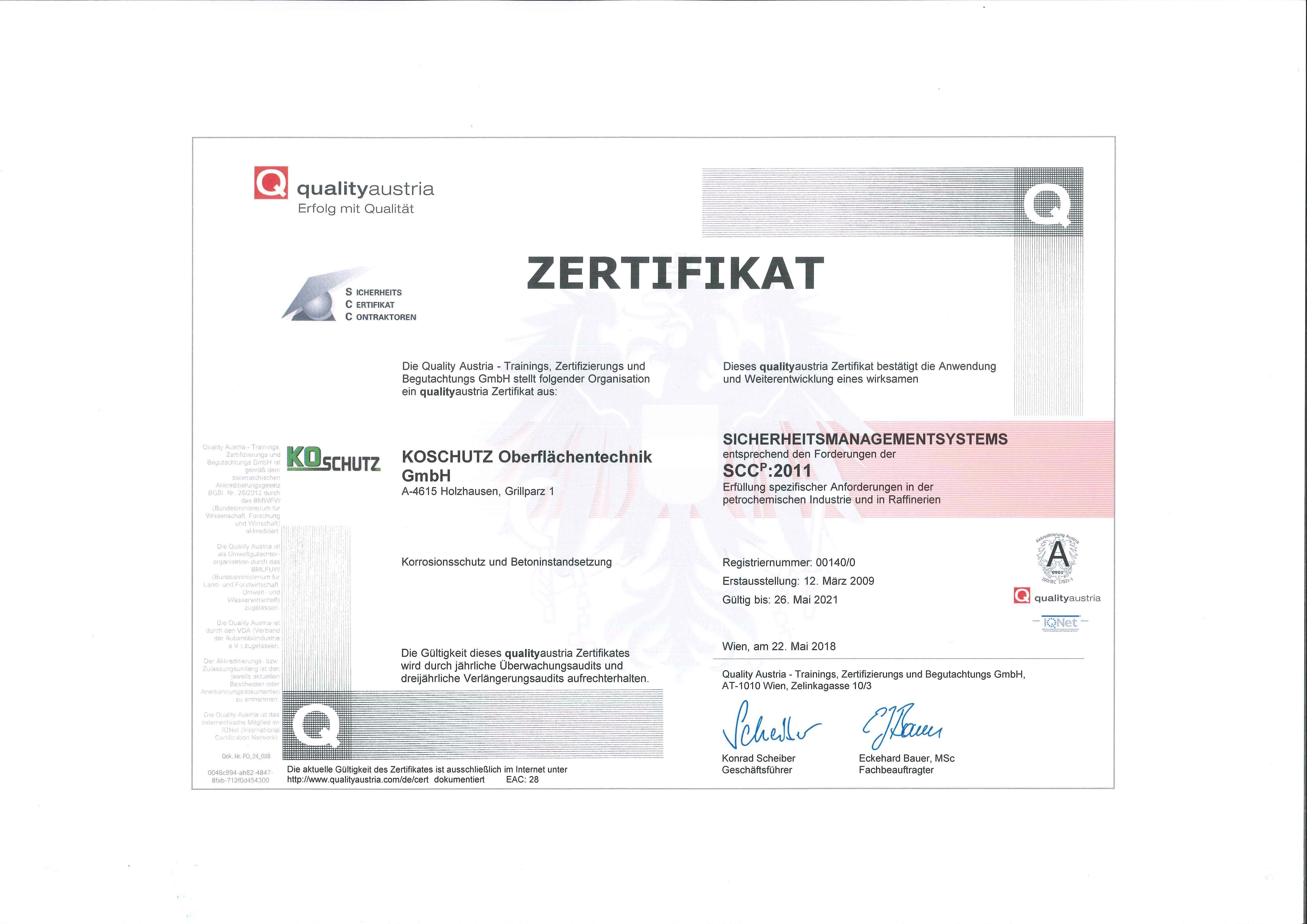 SCCP-Zertifikat
