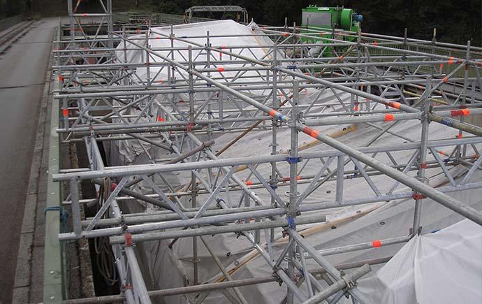 Stahlwasserbau Referenz Einhausung Wehrfeld Ennskraftwerke
