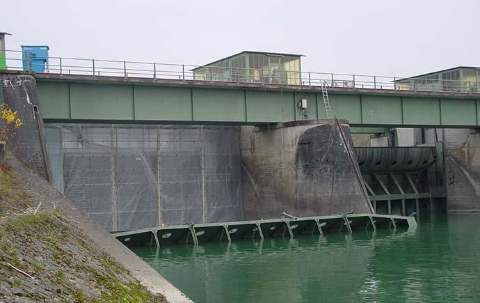 Stahlwasserbau Referenz Verbund Einhausung
