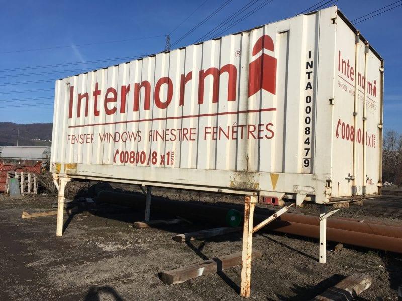 Internorm WAB-Container vor Sanierung